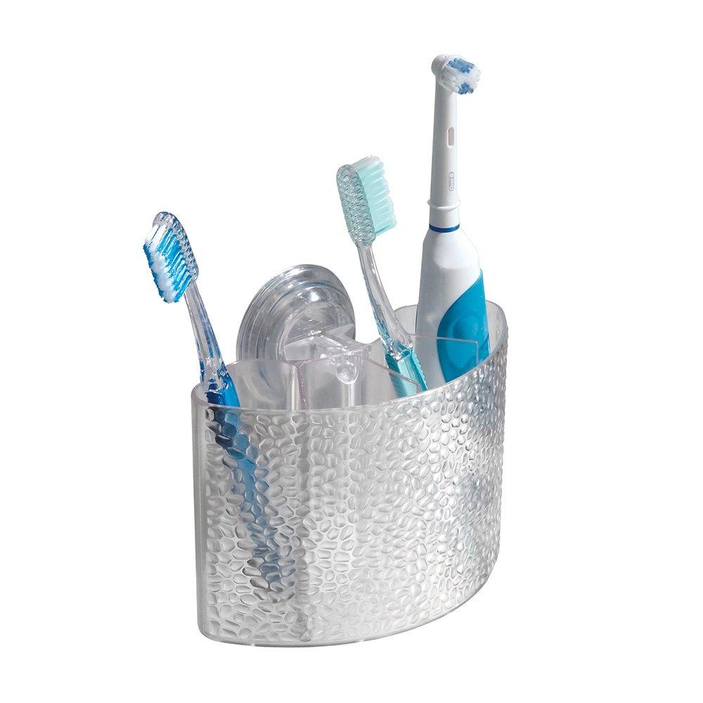 Diş Fırçalık,Macunluk Kombine Power Lock Model Damlalı Çift Vakumlu Banyo Aksesuarı