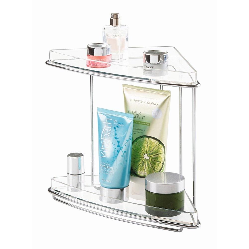 Kozmetik Ürün Ve Küçük Eşya Düzenleyici Yer Kaplamayan Köşe Rafı