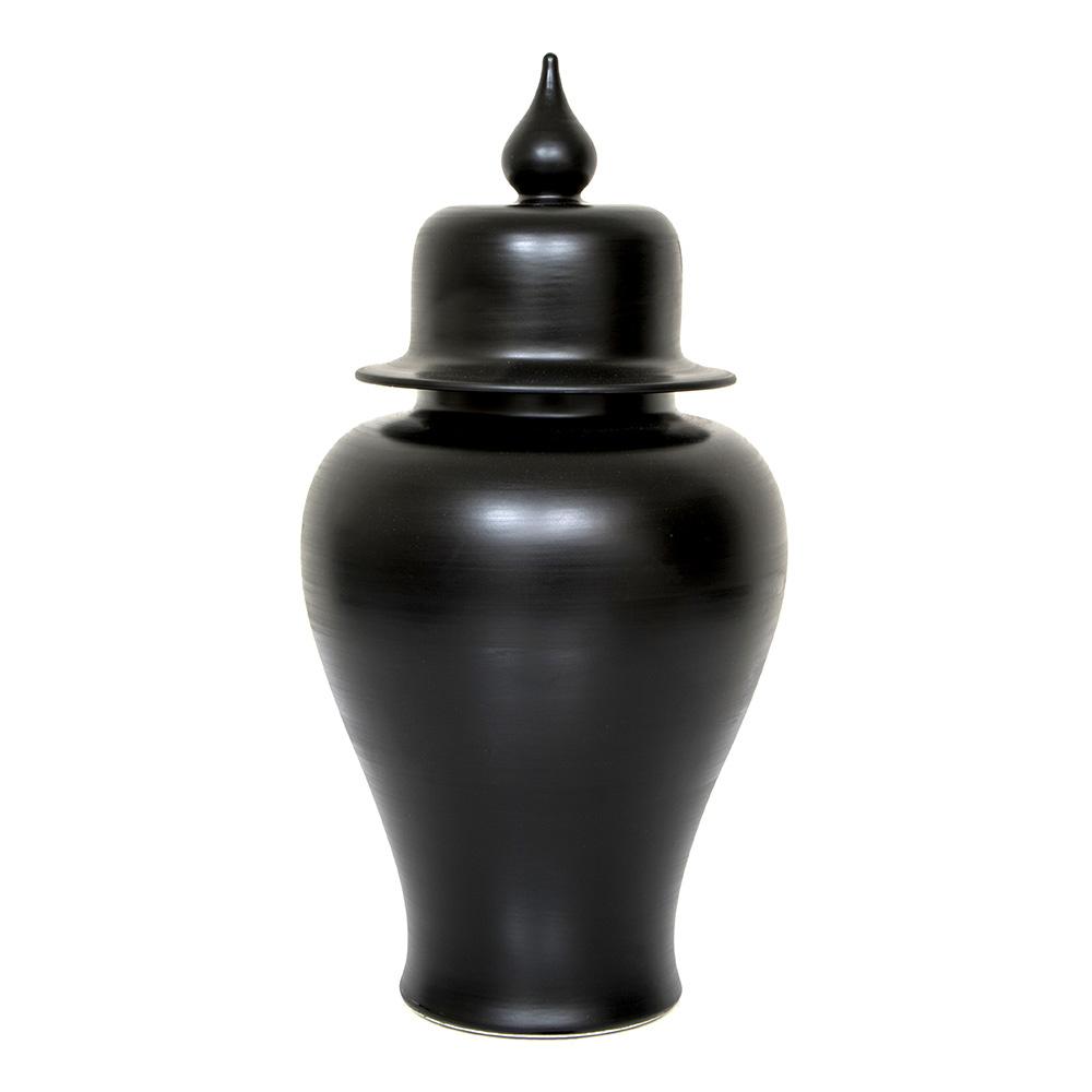 Altıncı Cadde Mat Siyah Altınsız Düz Vazo 30 cm Ürün Resmi