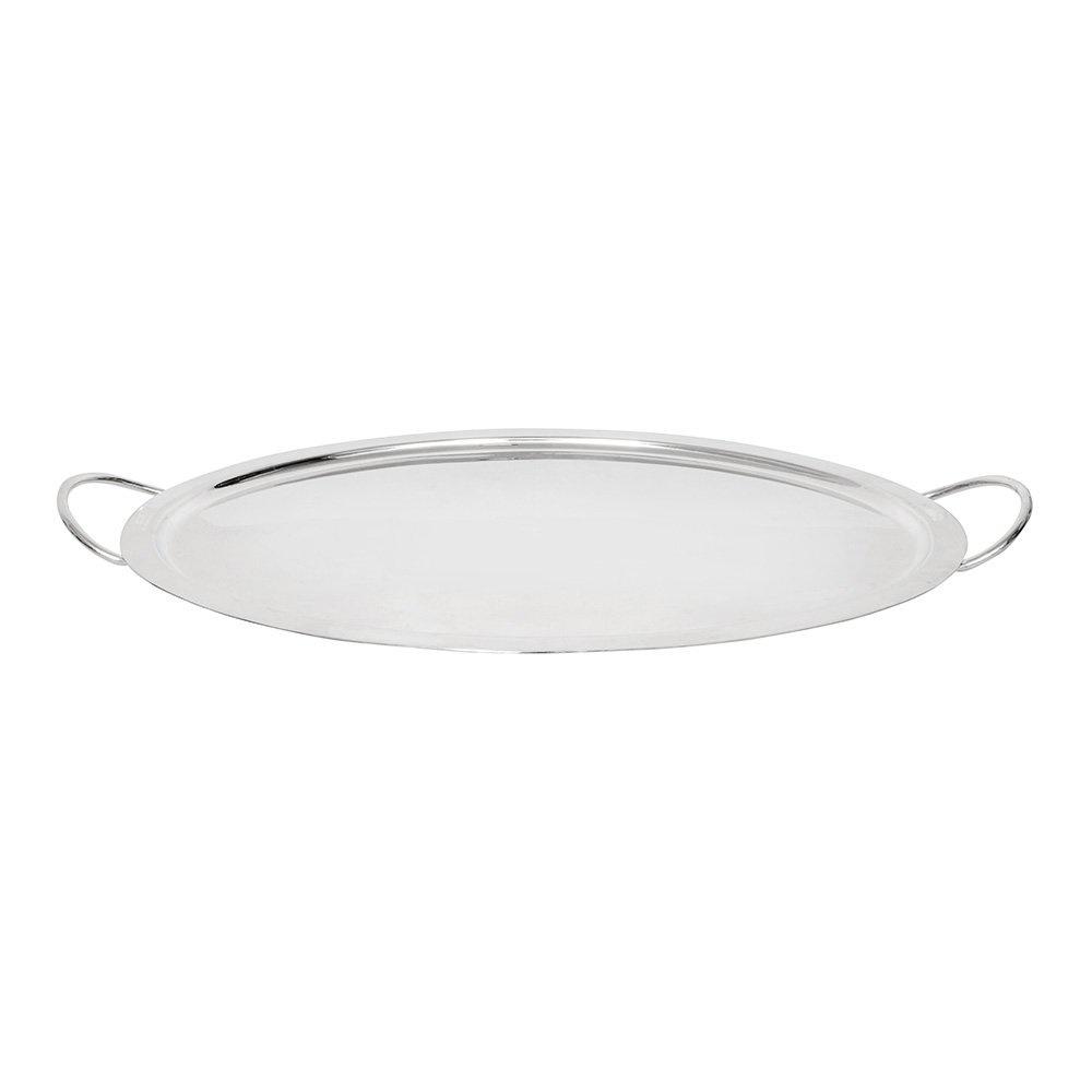 Modern Oval Tepsi Gümüş 55x34 cm
