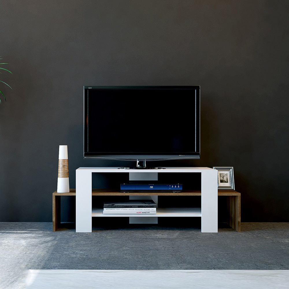 Sole Tv Ünitesi Beyaz-Ceviz