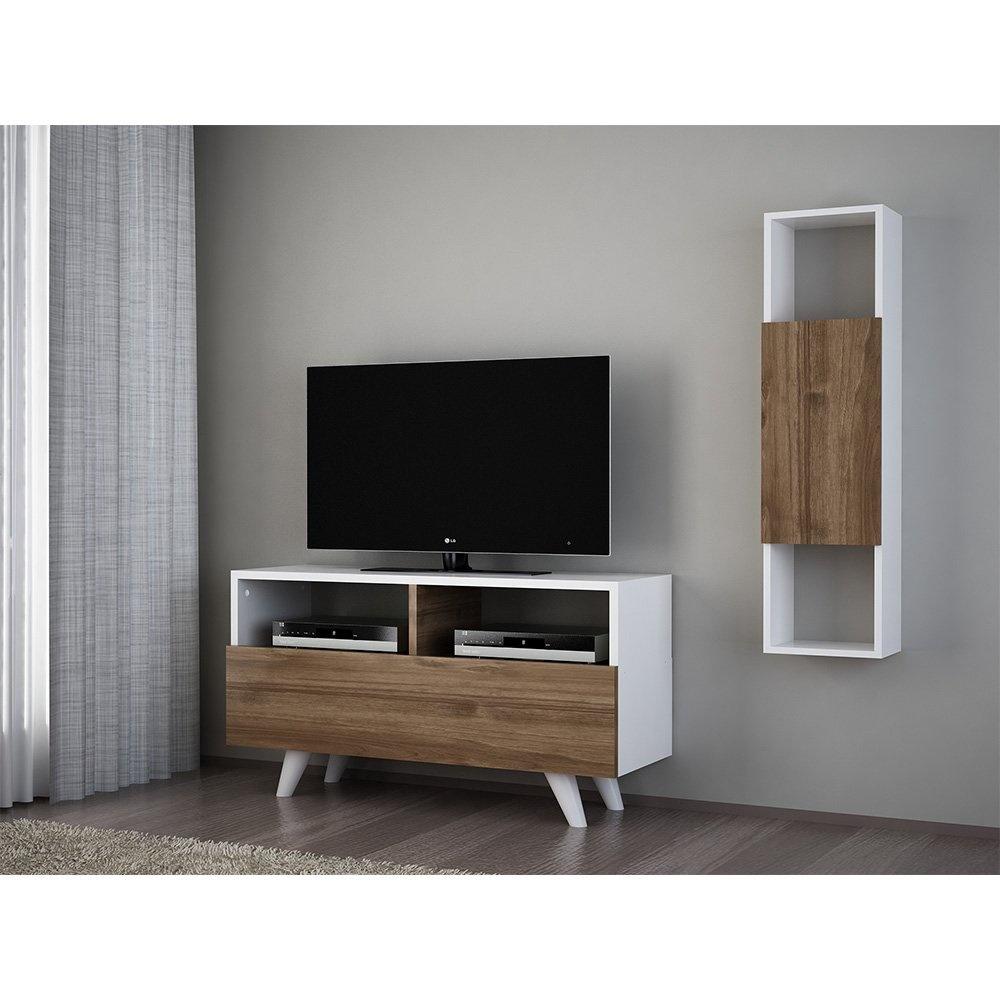 Novella K34 Tv Ünitesi Beyaz-Ceviz