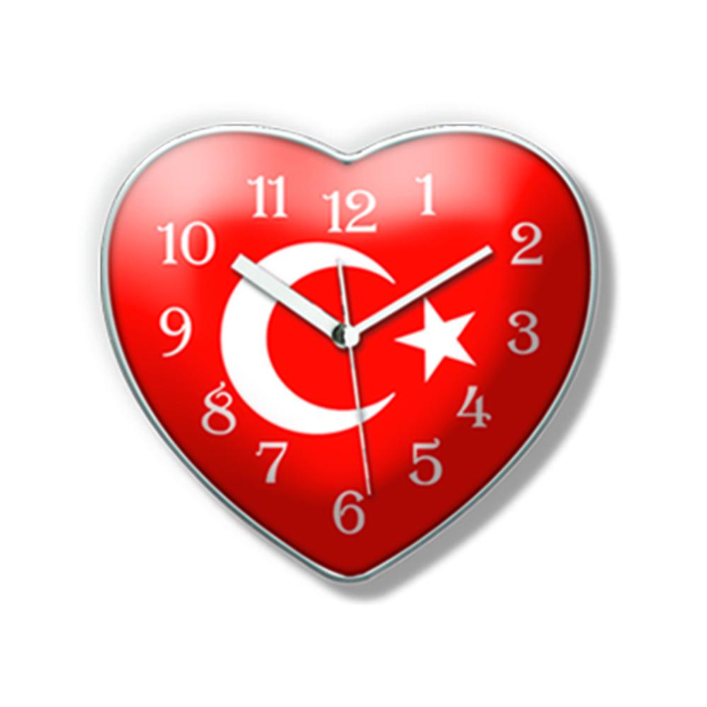 Kalpli Mıknatıslı Buzdolabı Saati-10,5*9,5Cm Tg2451