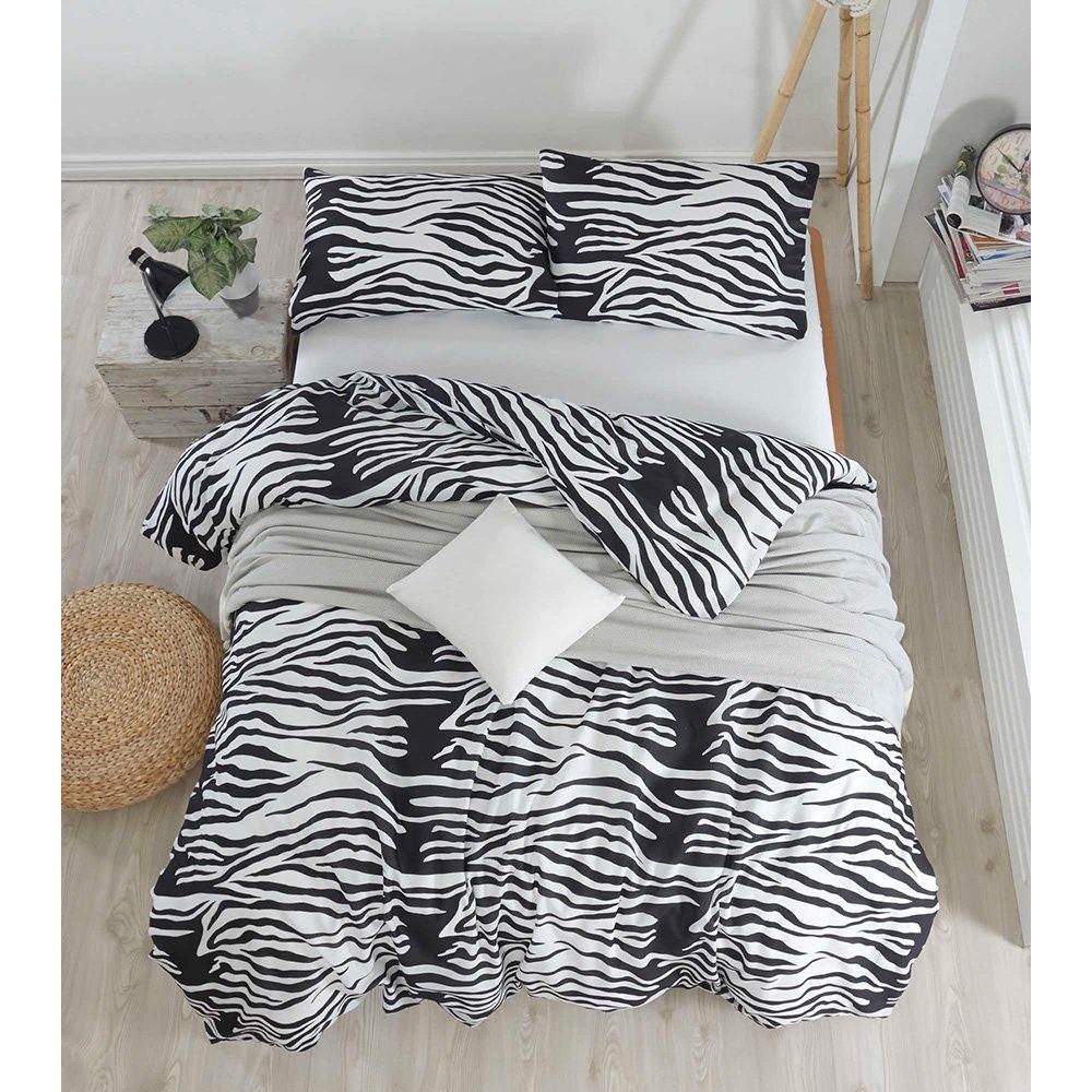 Eponj Home Kolay Ütülenir Nevresim Takımı Çift Kişilik B&W Zebracasa Siyah-Beyaz Ürün Resmi