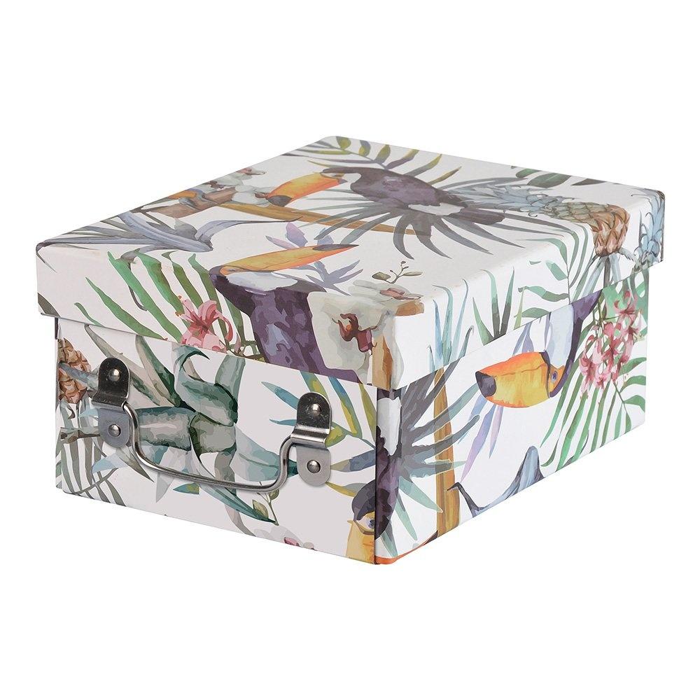Bosphorus Tropikal Desenli Kapaklı Katlanabilir Karton Kutu Ürün Resmi
