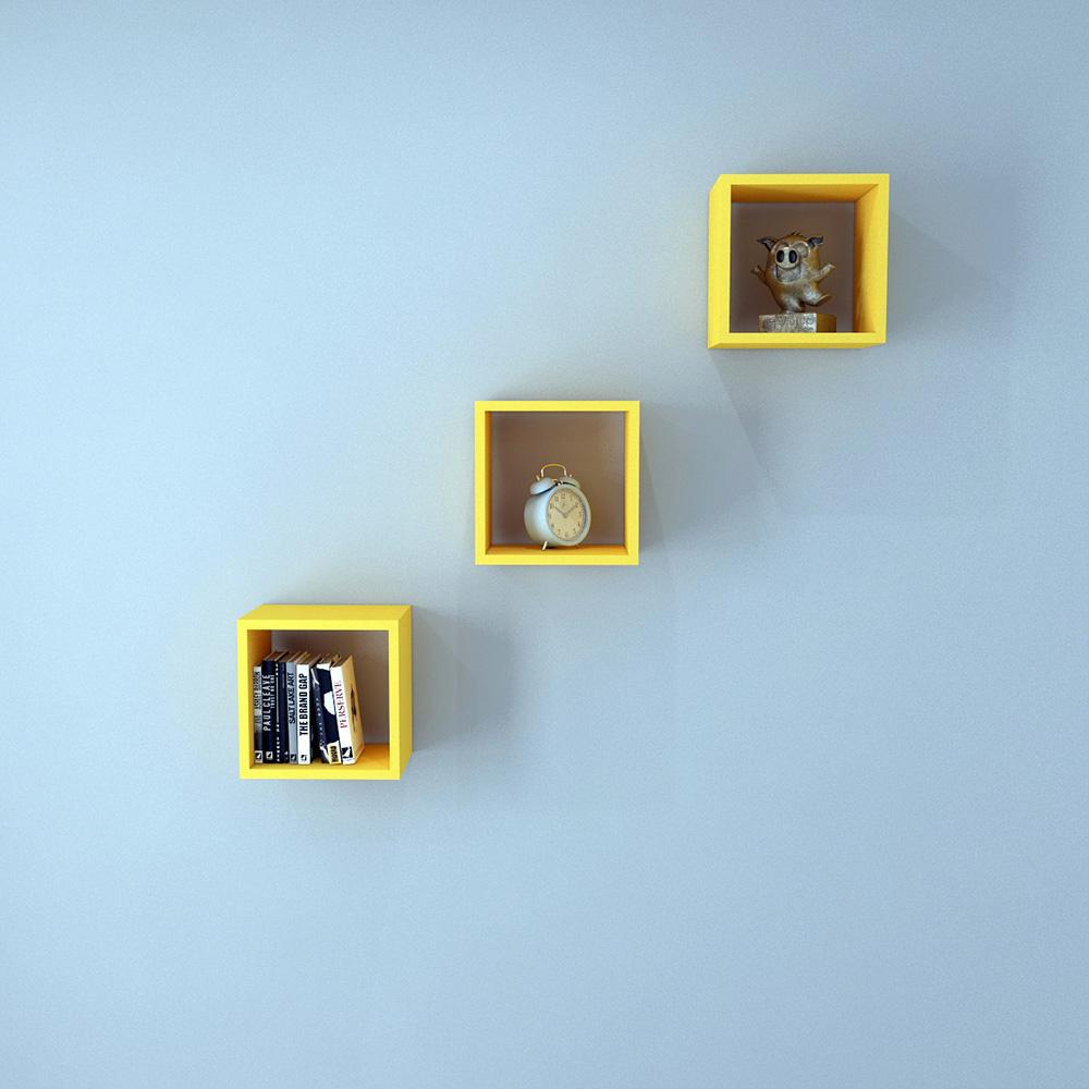 Rafline Series Duvar Rafı Sarı Ürün Resmi
