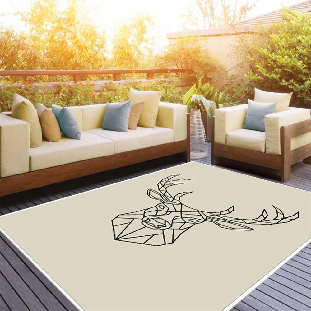Deer-Art 03 Baskı Halı 100X300