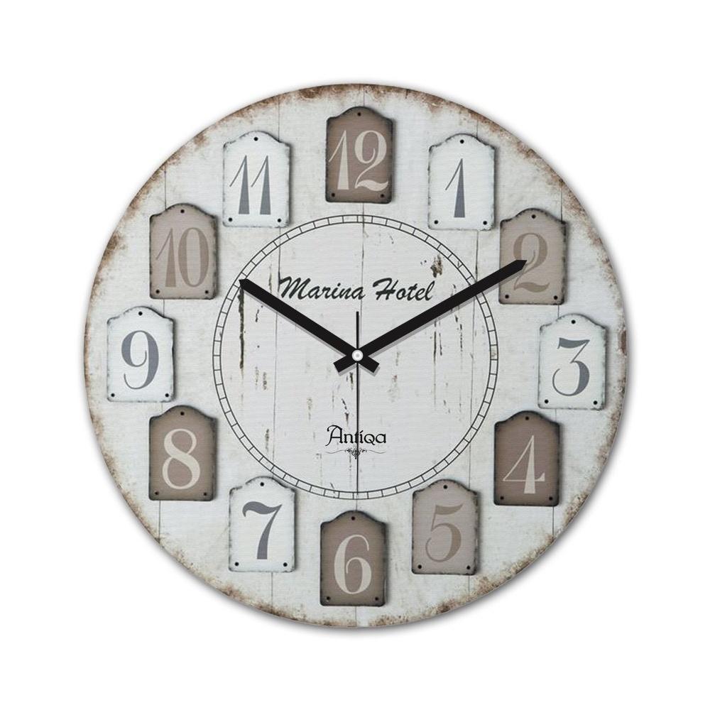 Decoclub AntiQa De Paris MDF Duvar Saati 30x30 Cm ANS244 Ürün Resmi