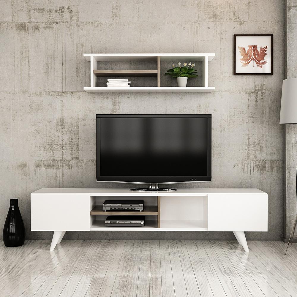 New Dore Tv Ünitesi - Beyaz-İstanbul