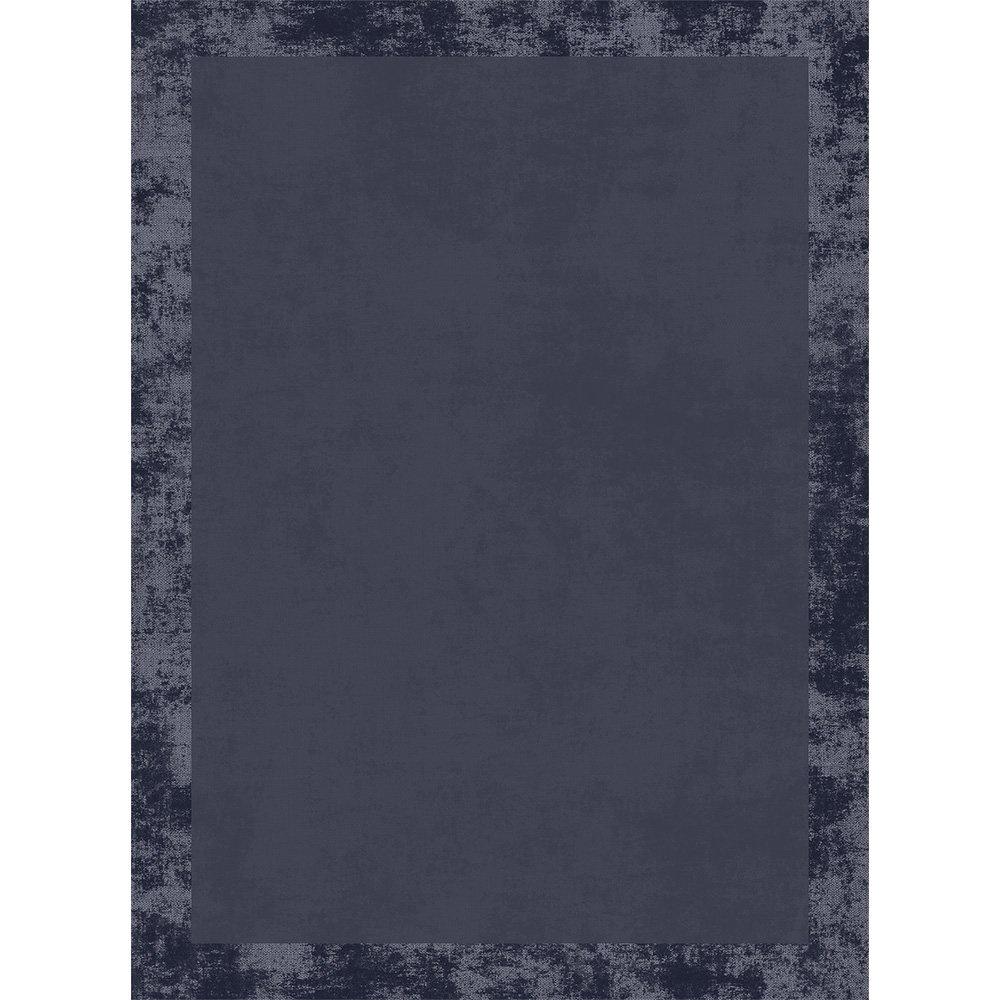 Halı Çerçeve Desen Gri Siyah 80 X 150