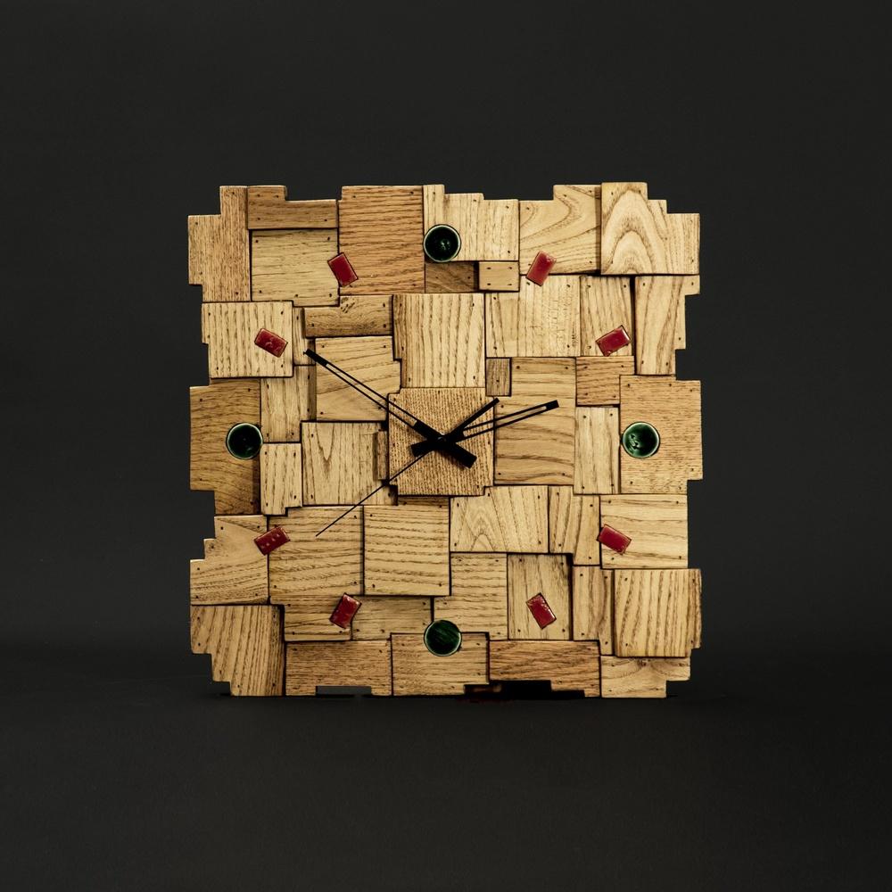 Gugar Wood Yamalı Ahşap Saat (Kestane Ağacı) Ürün Resmi