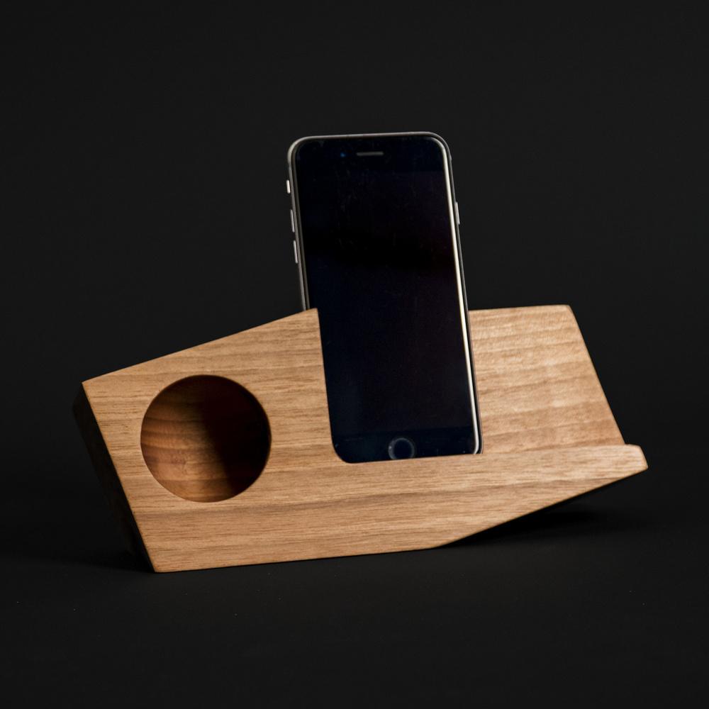 Gugar Wood I-Phone Telefon Standı Klasik (Ceviz Ağacı) Ürün Resmi