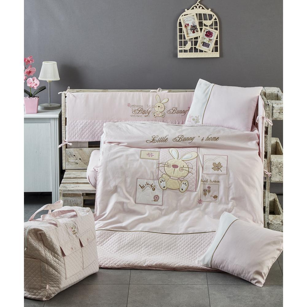 Komfort Home Komfort Özel Nakışlı Ve Çantalı Bebek Uyku Seti %100 Pamuk Saten Ürün Resmi