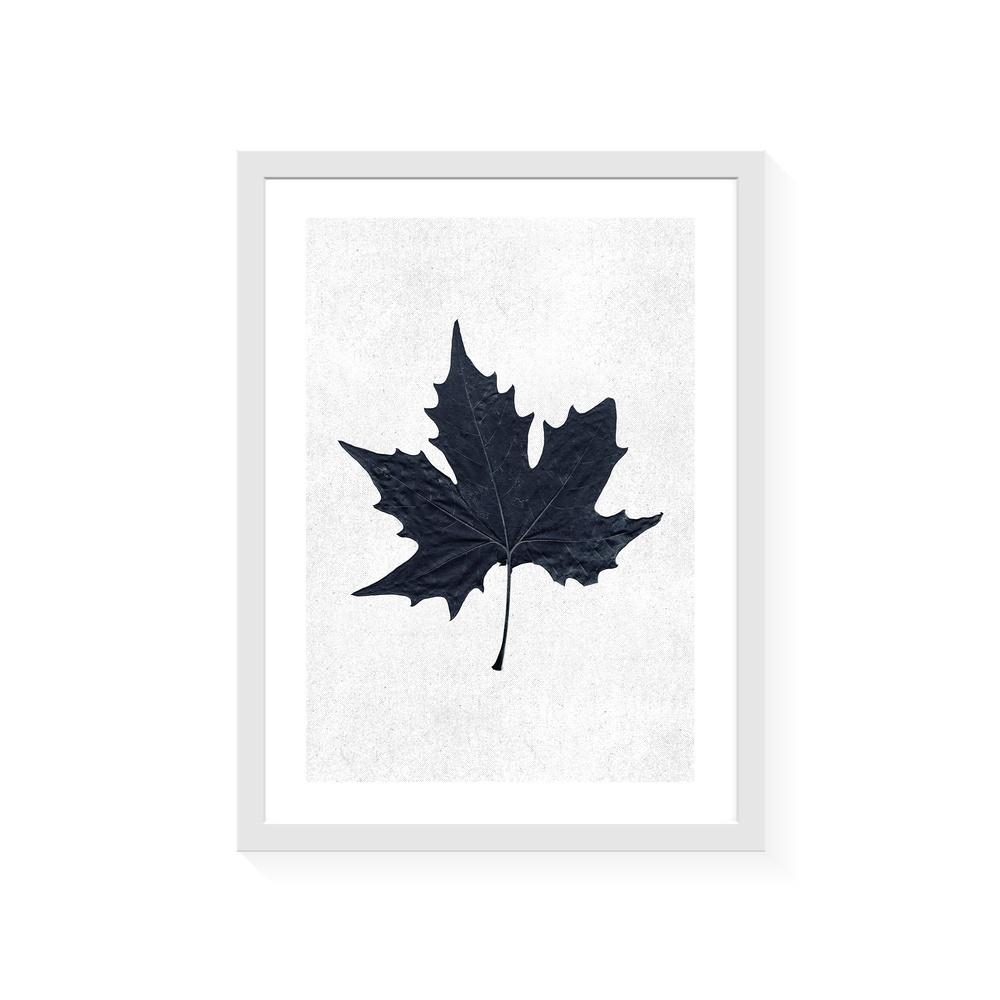 Normmade Black leaf Beyaz Çerçeveli Baskı Ürün Resmi