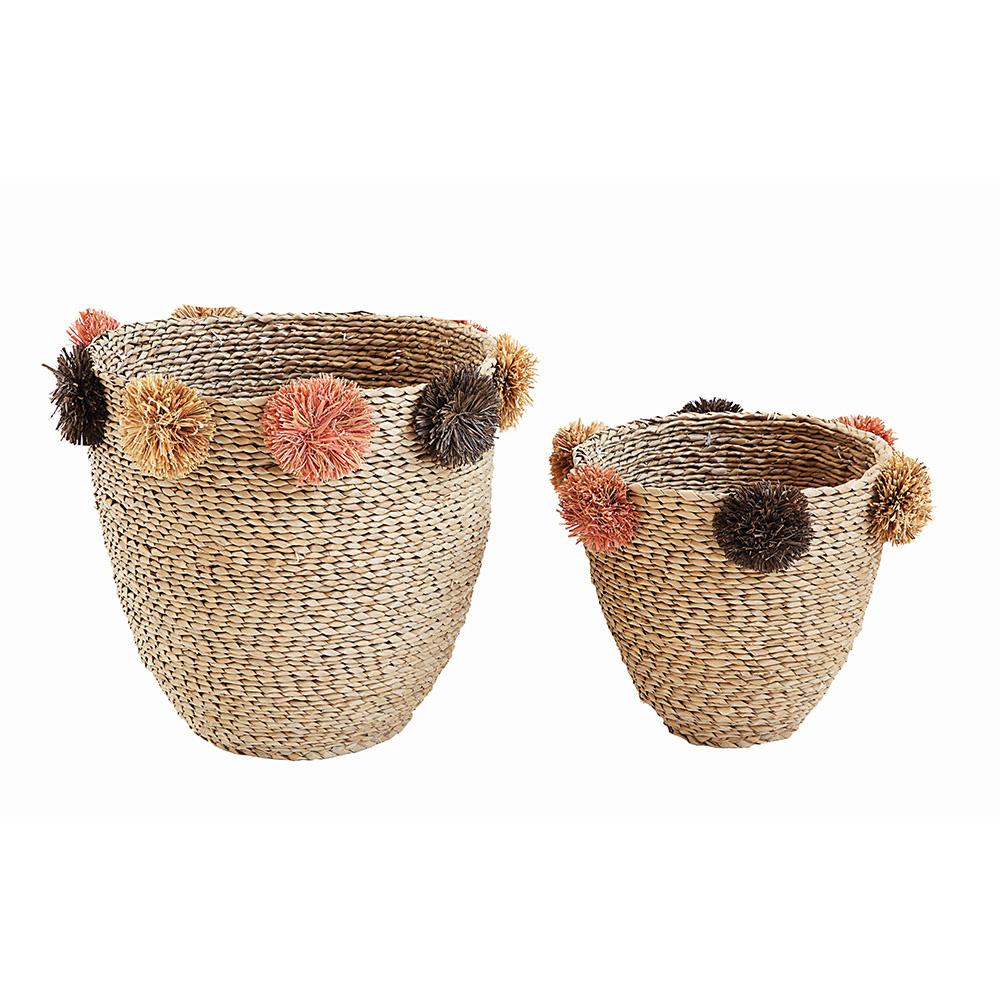 Pomponlu Dekoratif Sepetler