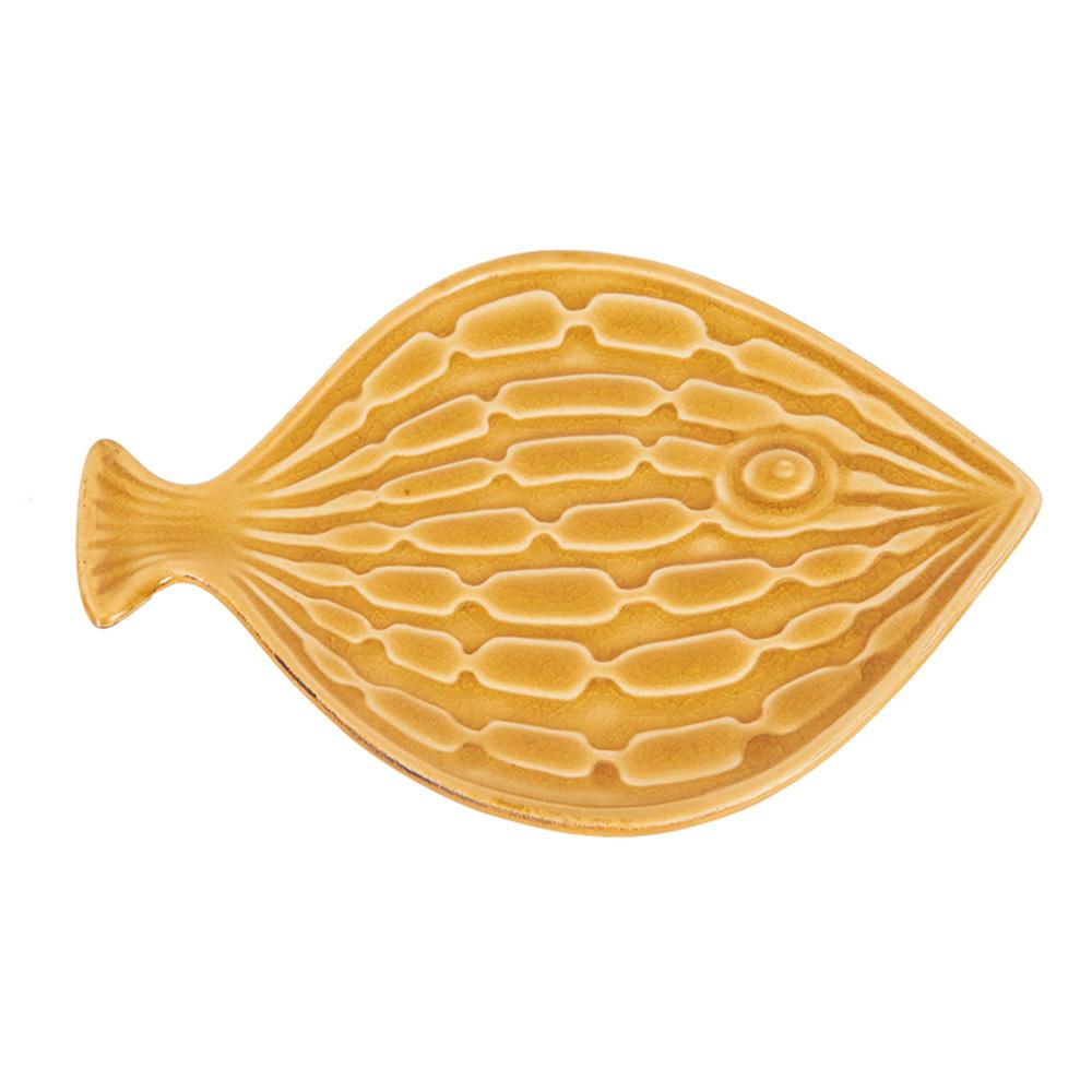 Decosuar Sarı Seramik Balık Tabak Ürün Resmi