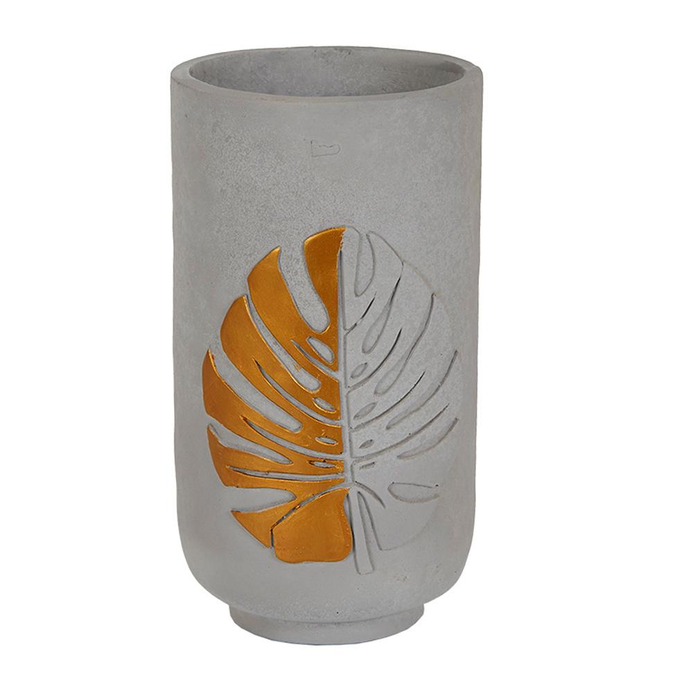 Decosuar Yaprak Desenli Seramik Vazo Ürün Resmi