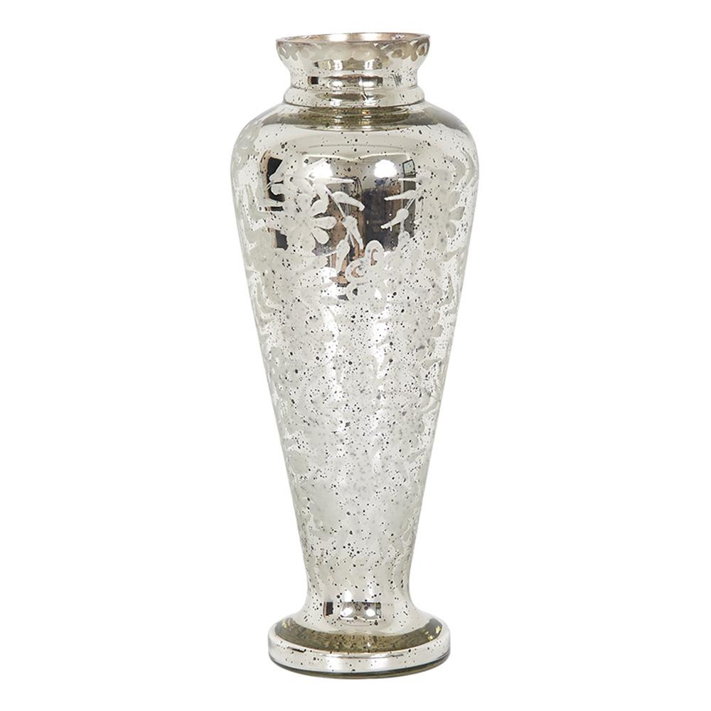 Decosuar Antik Gümüş Cam Vazo Ürün Resmi
