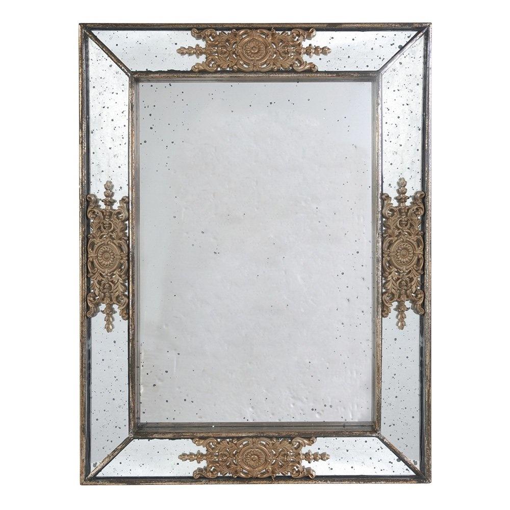 Decosuar Altın Rengi Motifli Eskitme Ayna Ürün Resmi