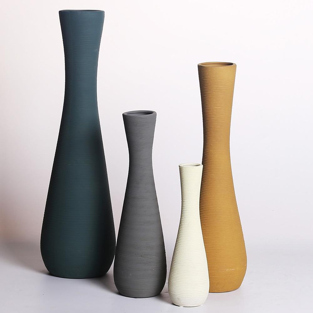 Decosuar El Yapımı Gri Seramik Vazo Ürün Resmi