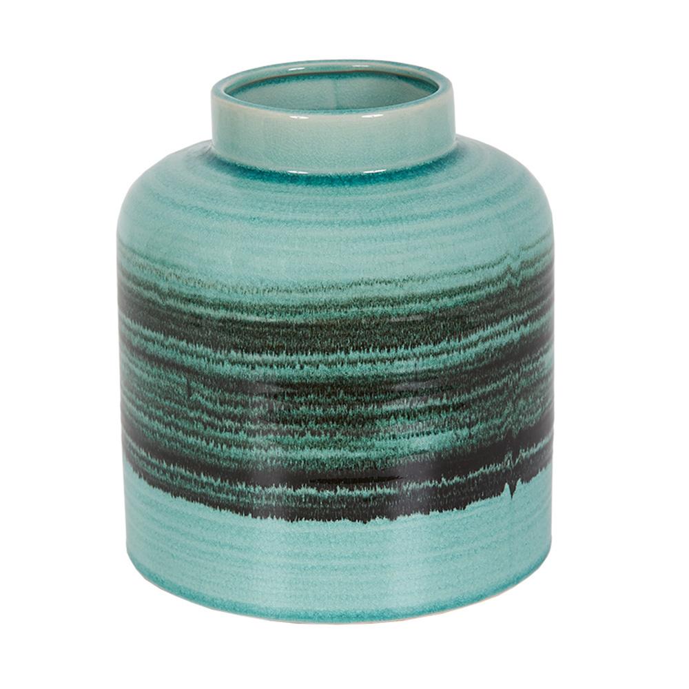 Decosuar Modern Stil İki Renk Mavi-Siyah Seramik Vazo Ürün Resmi