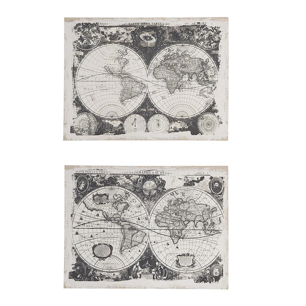Decosuar Antik Harita Baskılı Duvar Dekoratifi Ürün Resmi
