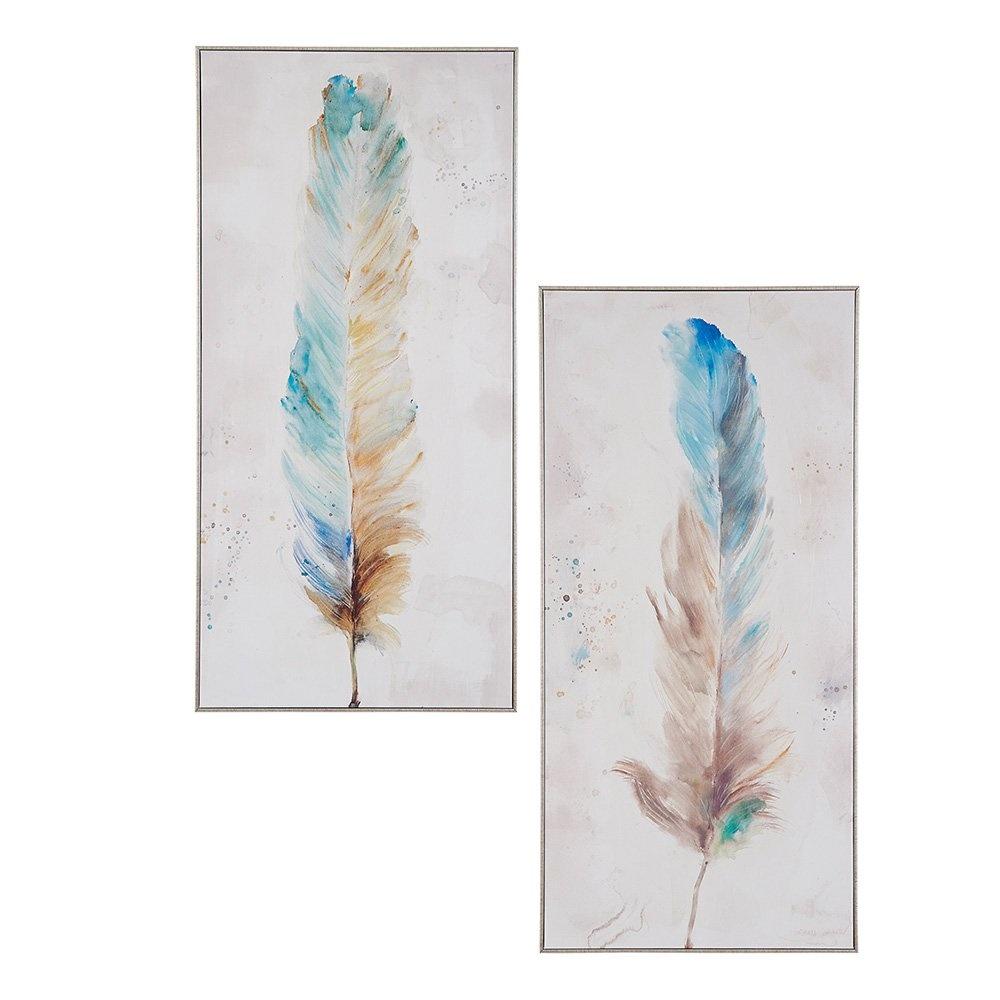Decosuar Kuş Tüyü Desenli Kanvas Tablo Ürün Resmi
