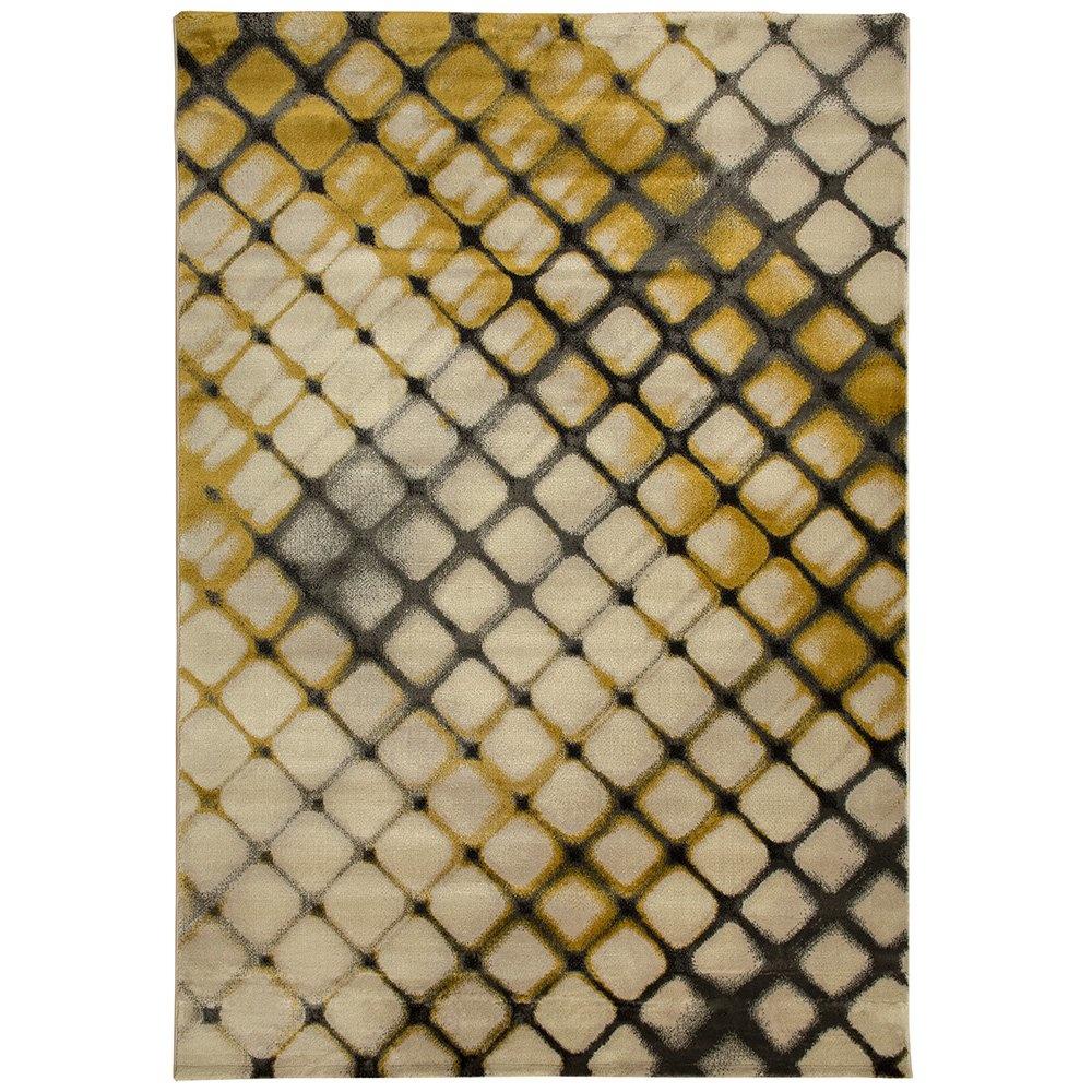 Payidar Lorav G0061M 160x230 cm Doku Desen Koyu Gri / Gold Modern Halı Ürün Resmi